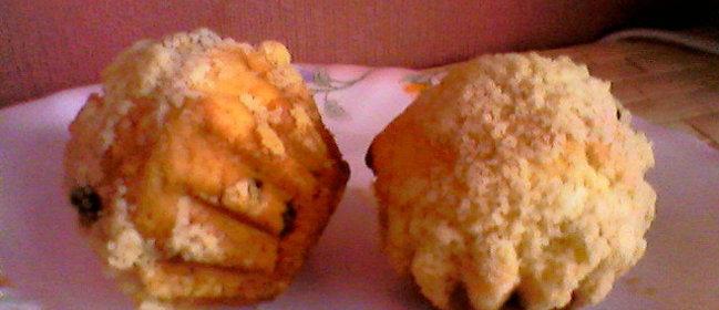 Творожно кокосовый кекс