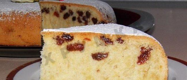 Рецепт кекса с изюмом в мультиварке с фото